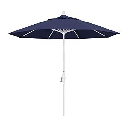 2018 Amazon : California Umbrella 9' Round Aluminum Market Umbrella Intended For White Patio Umbrellas (View 1 of 15)