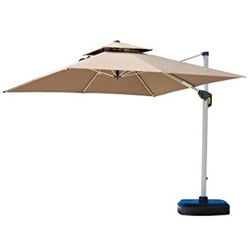 2018 Amazon : Purple Leaf 10 Feet Double Top Deluxe Square Patio Intended For Deluxe Patio Umbrellas (View 1 of 15)