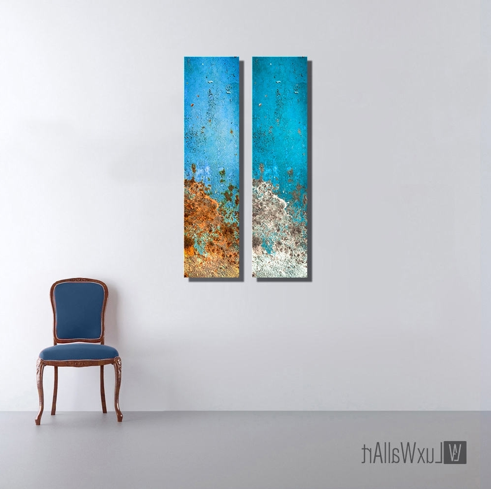 2018 Aquatic Large Vertical Thin Panel Metal Abstract Wall Art With Regard To Vertical Metal Wall Art (View 1 of 15)