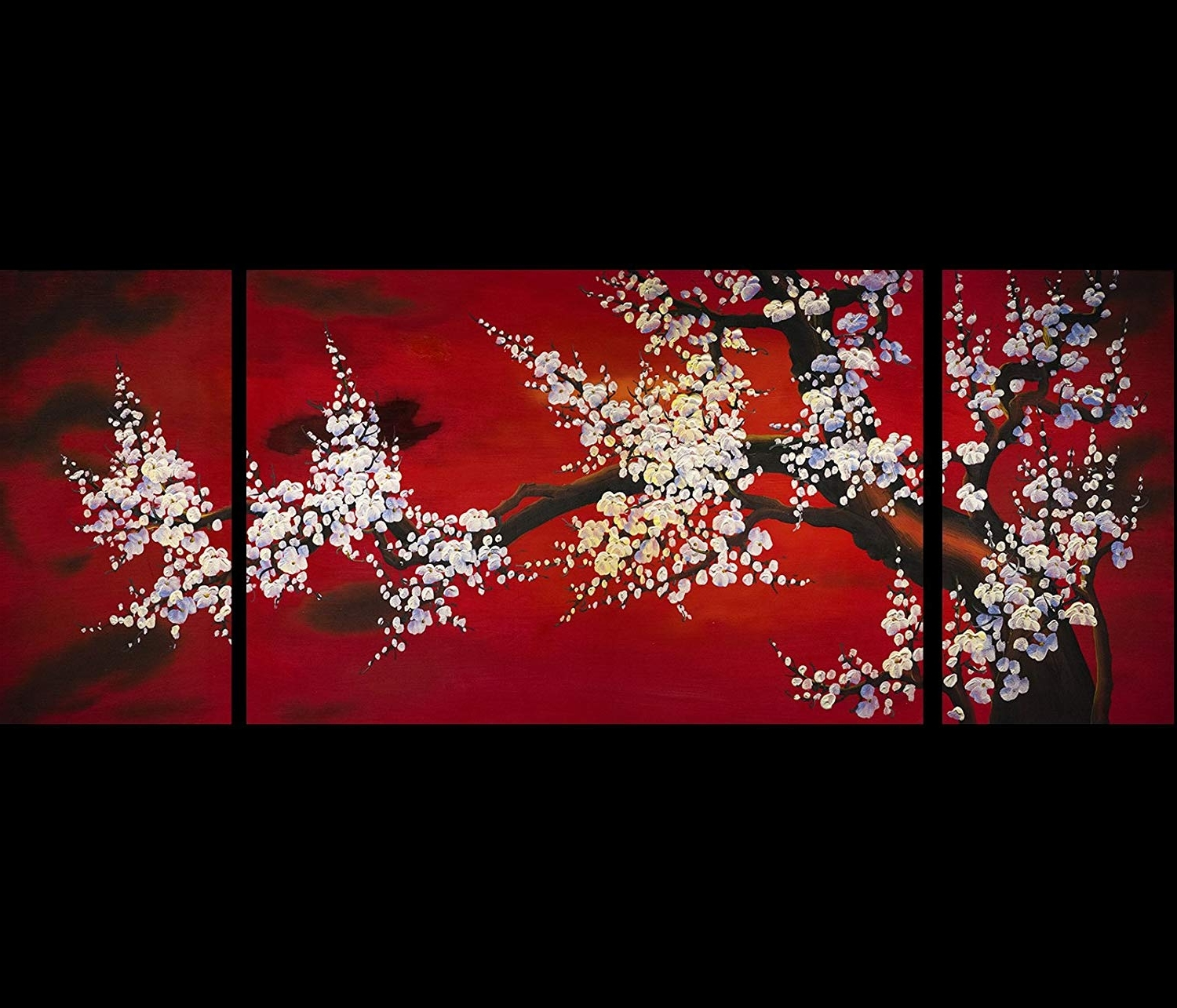 2018 Asian Wall Art Inside Amazon: Abstract Art Plum Blossom Chinese Feng Shui Painting (View 1 of 15)