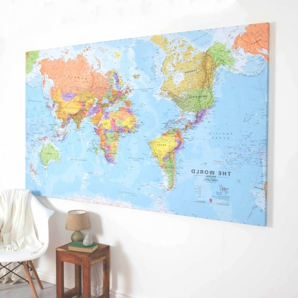 2018 Best Photo Gallery Of World Map Canvas Wall Art Viewing For Throughout World Map Wall Art Canvas (View 8 of 15)
