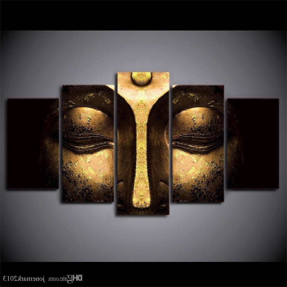 2018 Canvas Art Buddha Peaceful Hd Printed Wall Art Home Decor Pertaining To Latest 5 Piece Wall Art Canvas (View 2 of 15)