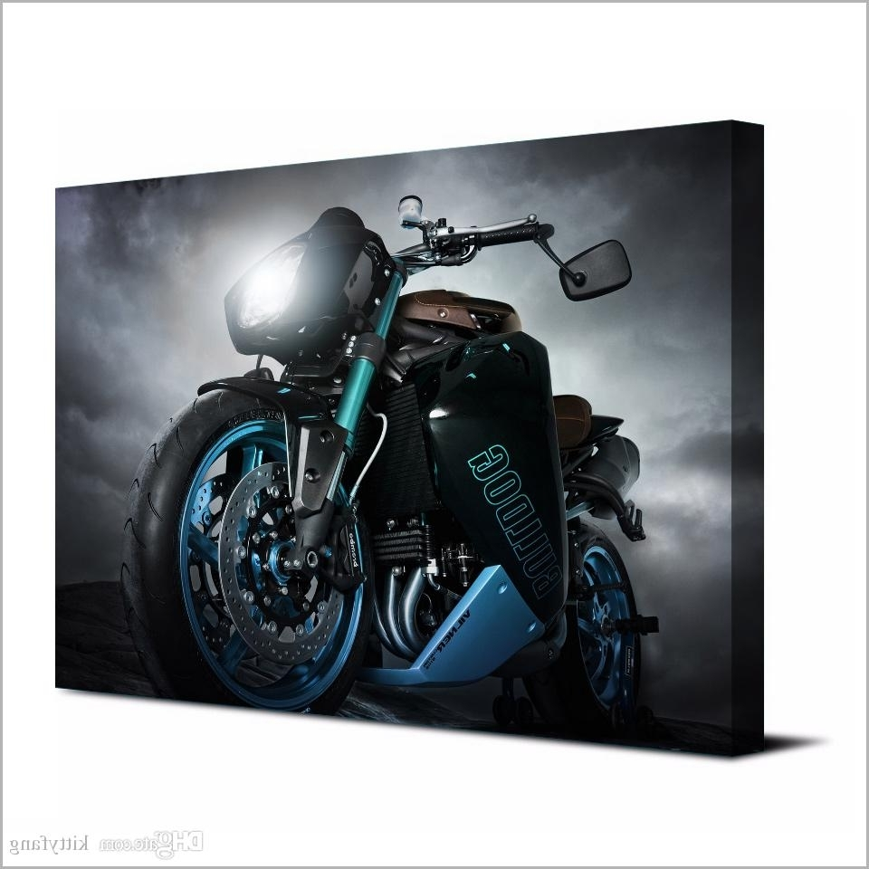 2018 Canvas Art Poster Angry Motorcycle Hd Canvas Painting Wall Art Inside Popular Motorcycle Wall Art (View 2 of 15)