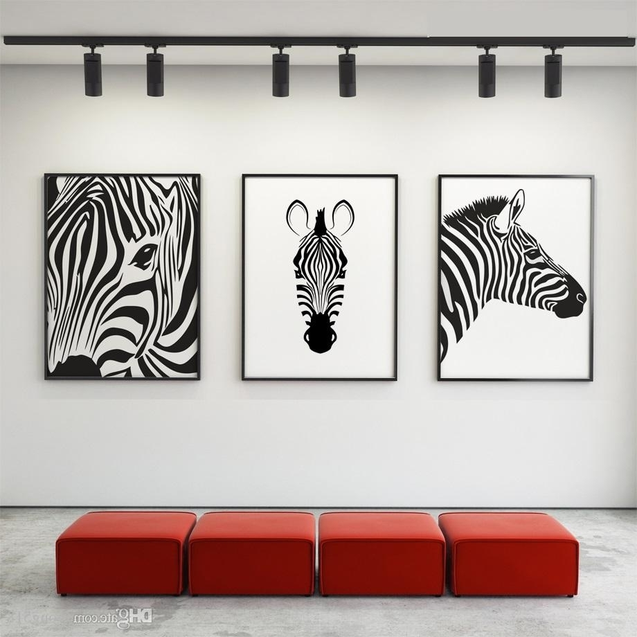 2018 Canvas Painting Nordic Black White Animal Horse Wall Art Canvas With Regard To Most Up To Date Black And White Canvas Wall Art (View 4 of 15)