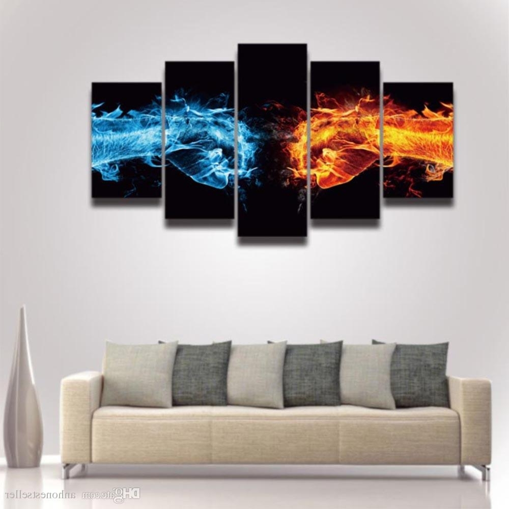2018 Canvas Prints Art Cool Fist Picture Artistic Painting For Wall Pertaining To Newest Cool Wall Art (View 1 of 15)