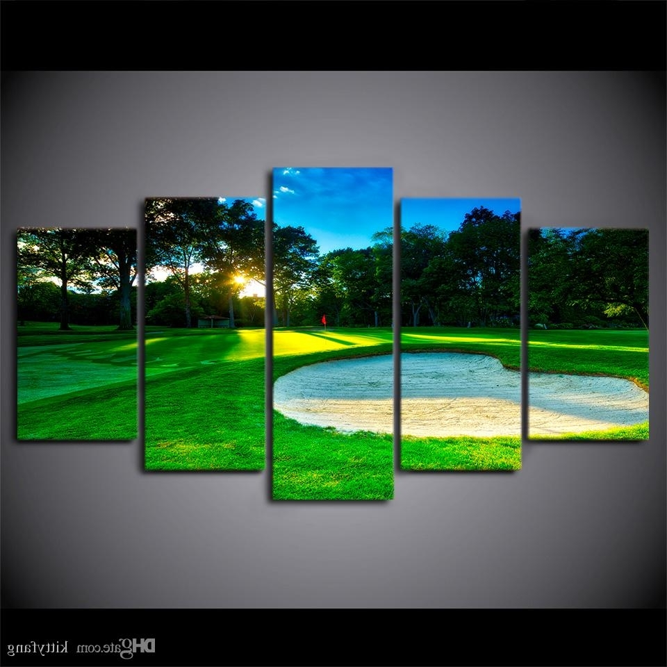 2018 Canvas Wall Art Pictures Home Decor Framework Spring Golf Pertaining To Well Known Golf Canvas Wall Art (View 14 of 15)