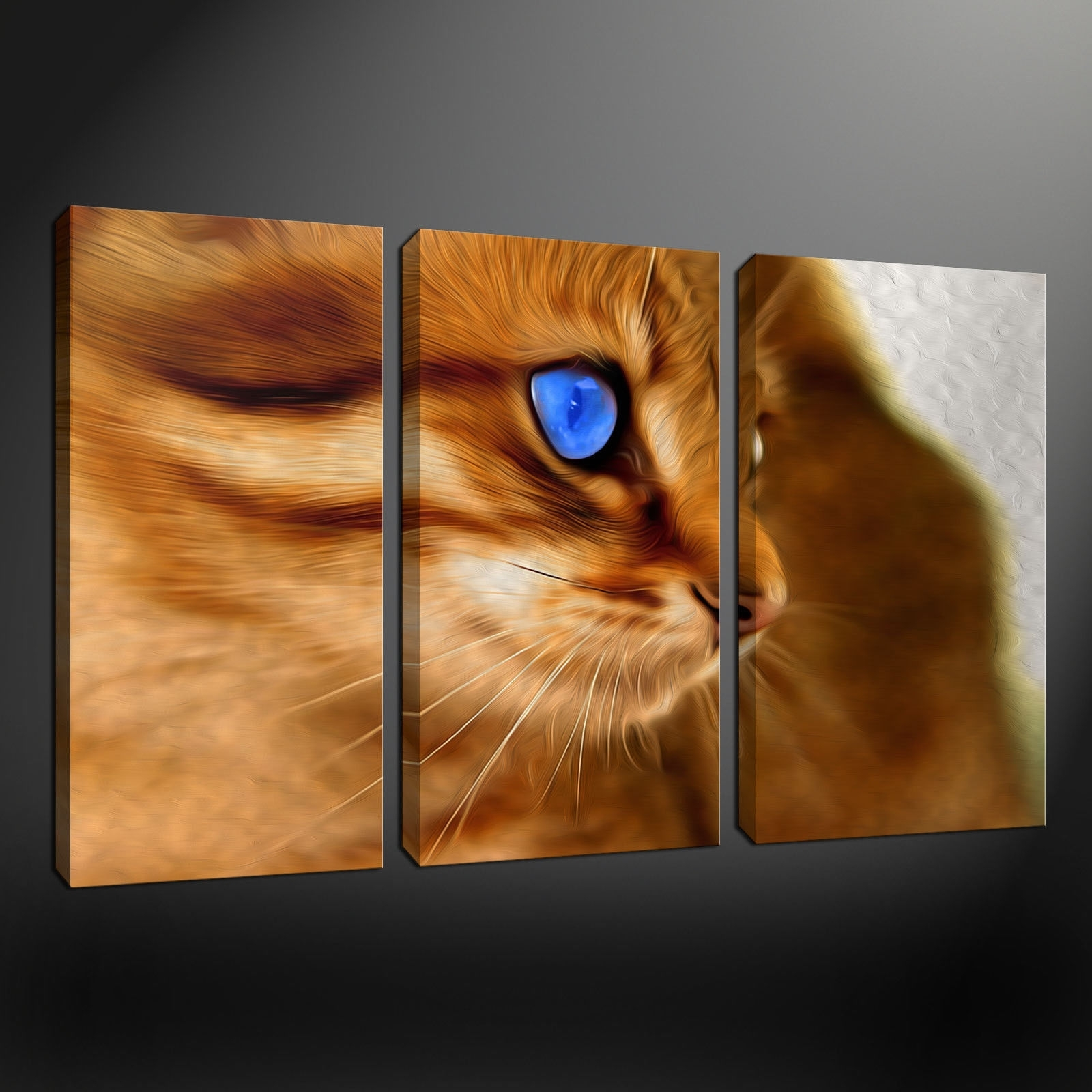 2018 Cat Canvas Wall Art Inside Canvas Print Pictures. High Quality, Handmade, Free Next Day Delivery (View 1 of 15)
