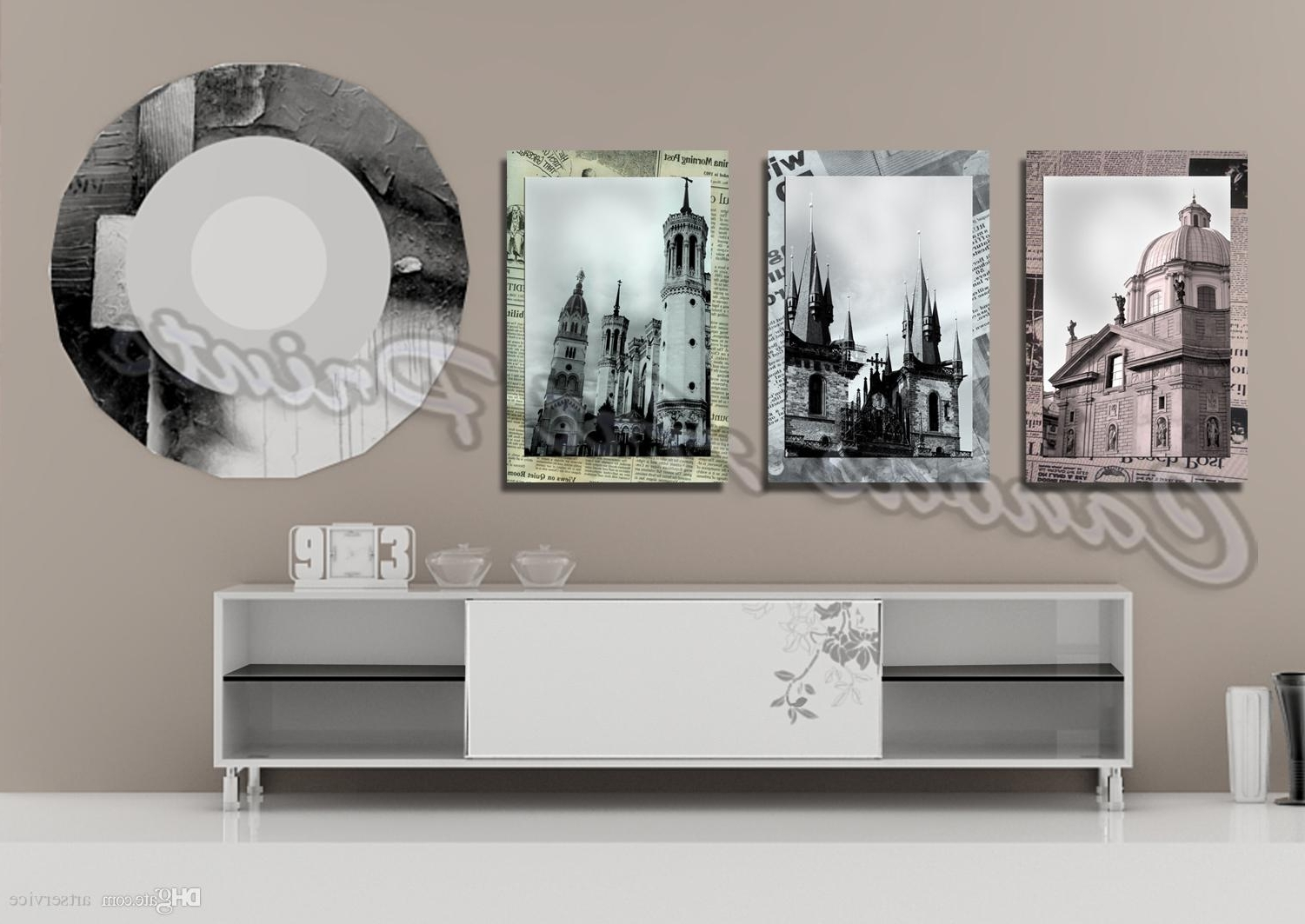 2018 Cheap Large Framed Art Home Decor Wall Paintings 3 Panel Wall For Preferred Large Framed Canvas Wall Art (View 14 of 15)