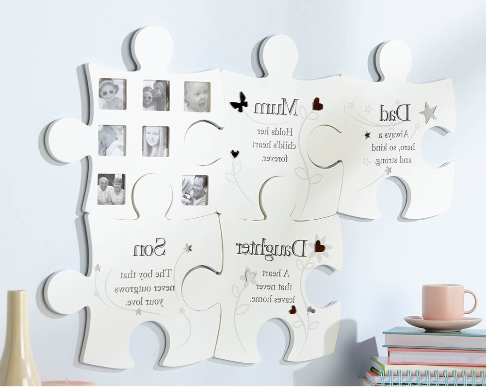 2018 Family Jigsaw Wall Art Photo Picture Frame Dad Mum Son Daughter Within Family Wall Art (View 1 of 15)
