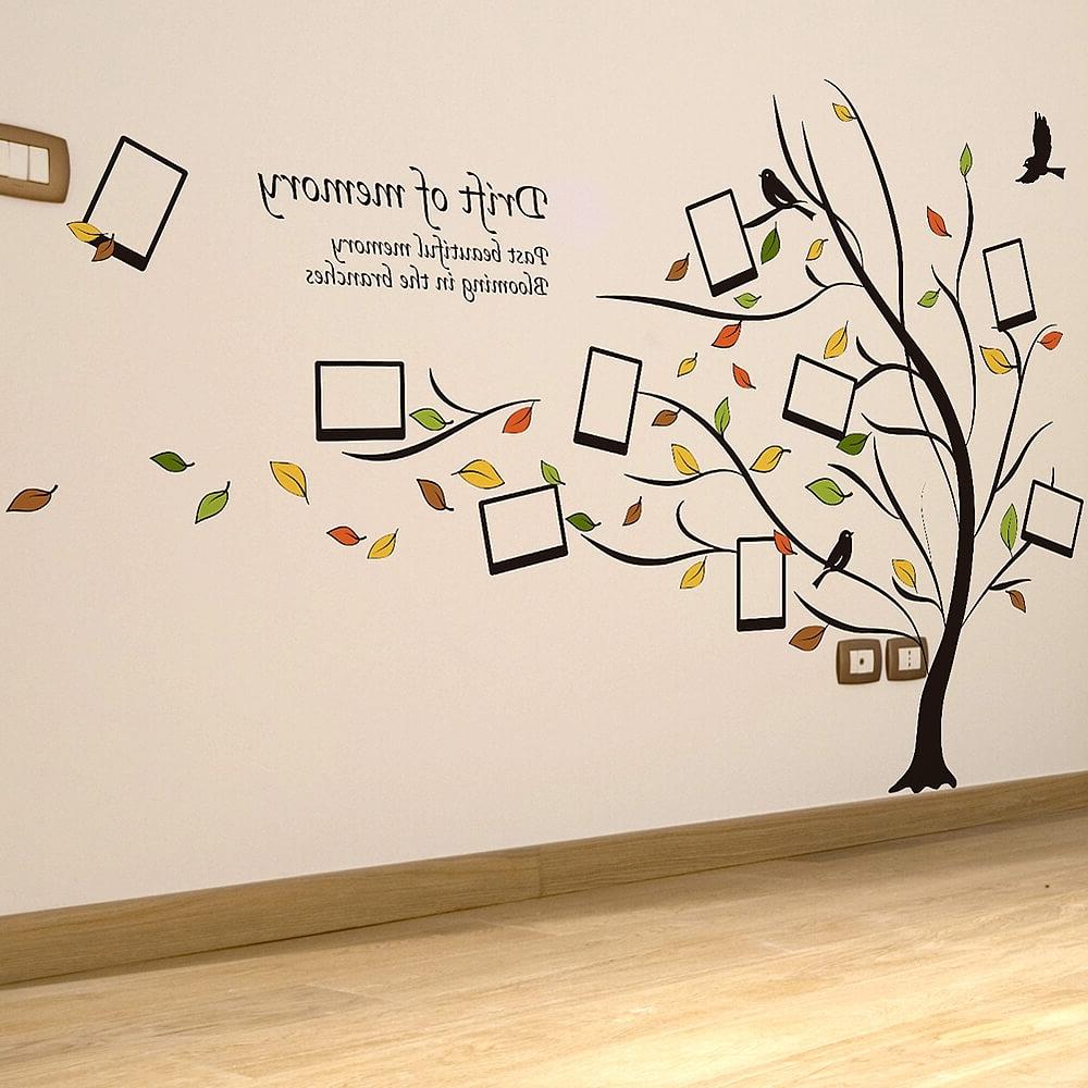 2018 Family Tree Wall Art Inside Photo Frame Family Tree Popular Family Tree Wall Decals – Home (View 2 of 15)