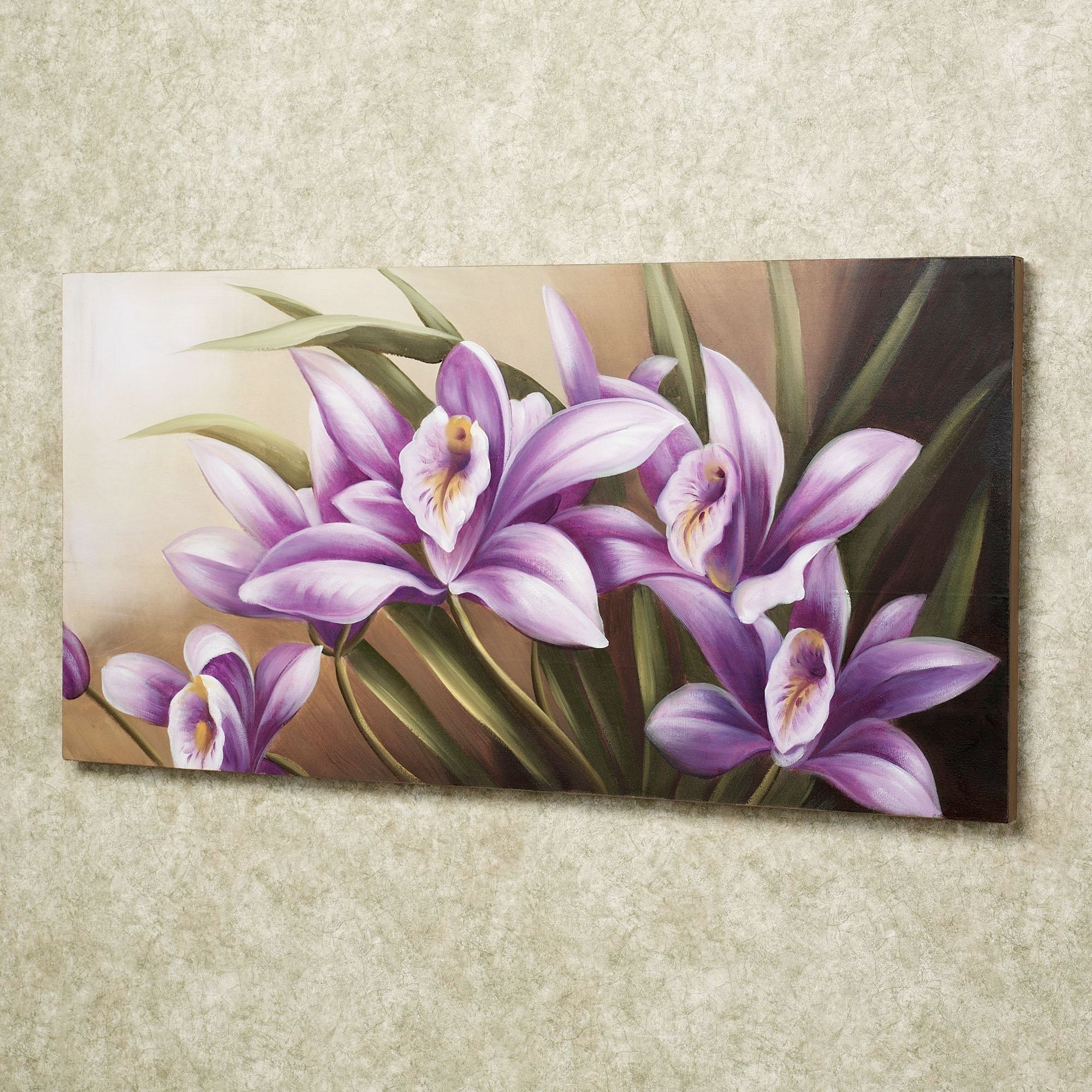 2018 Floral Wall Art Throughout Wild Orchid Handpainted Floral Canvas Wall Art (View 6 of 15)