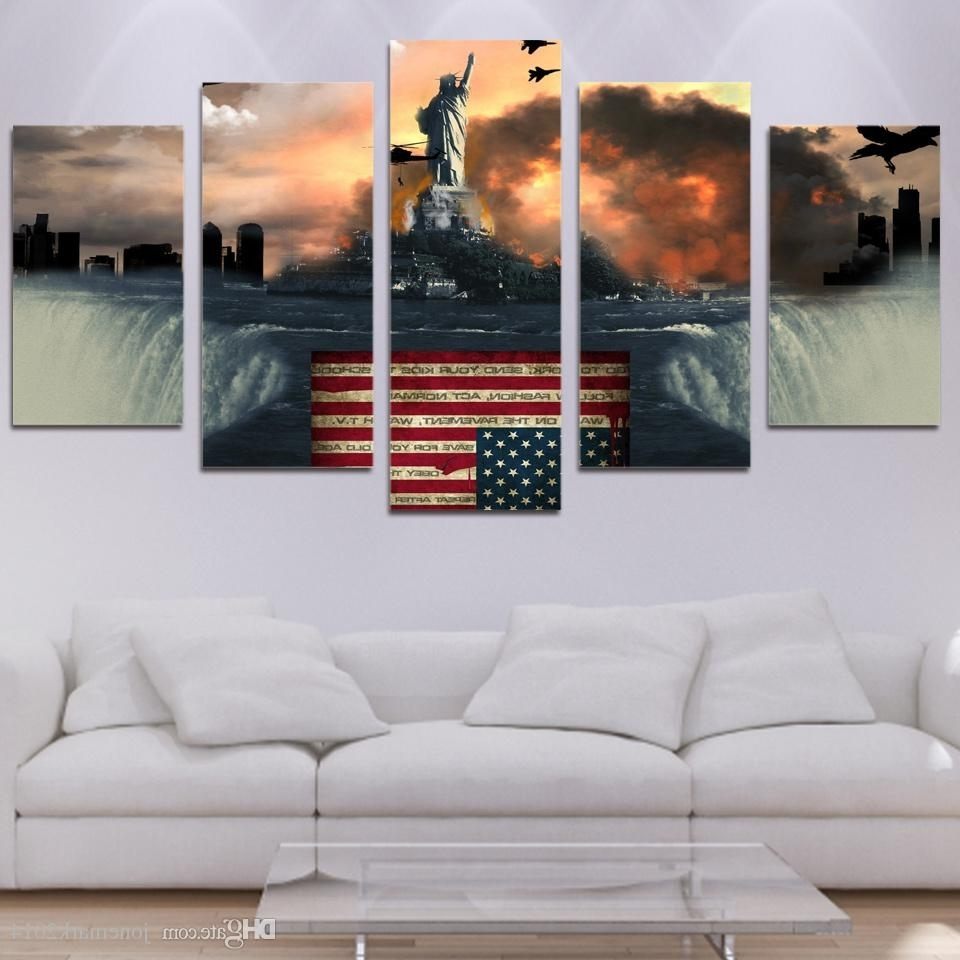 2018 Framed Hd Printed Flag Bird Eagle Wall Art Canvas Print Poster For Preferred Bird Framed Canvas Wall Art (View 9 of 15)
