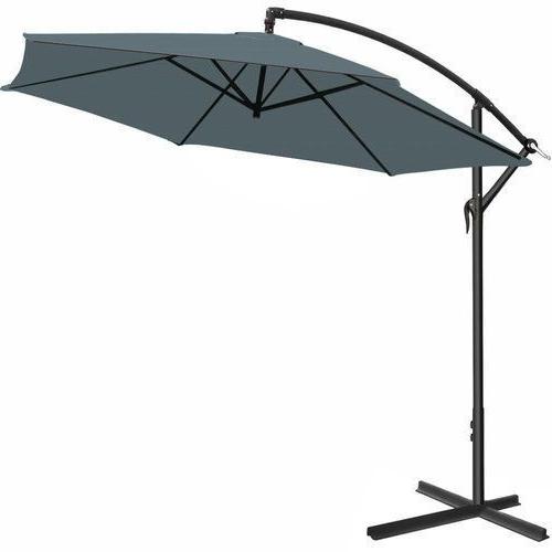 2018 Garden Umbrella Parasol Stand Base Large Patio Sun Shade Banana Throughout Grey Patio Umbrellas (View 5 of 15)