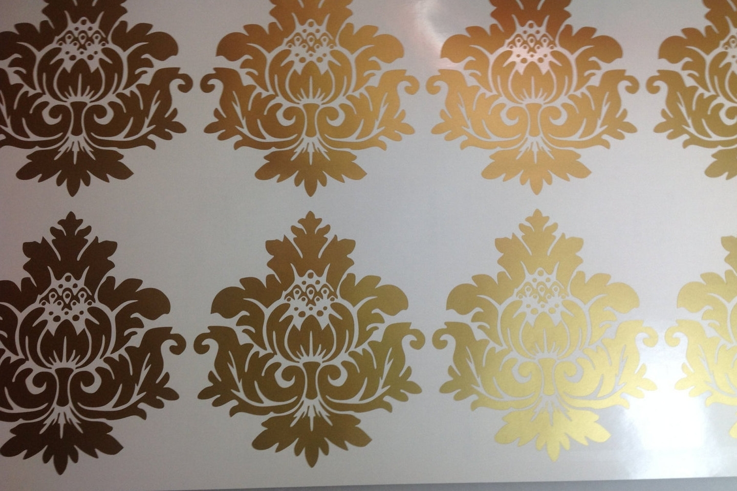 2018 Gold Vinyl Wall Fancy Gold Wall Decals – Wall Decoration Ideas Throughout Gold Wall Art (View 1 of 15)