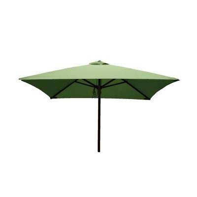 2018 Green – Square – Market Umbrellas – Patio Umbrellas – The Home Depot Inside Square Patio Umbrellas (View 7 of 15)