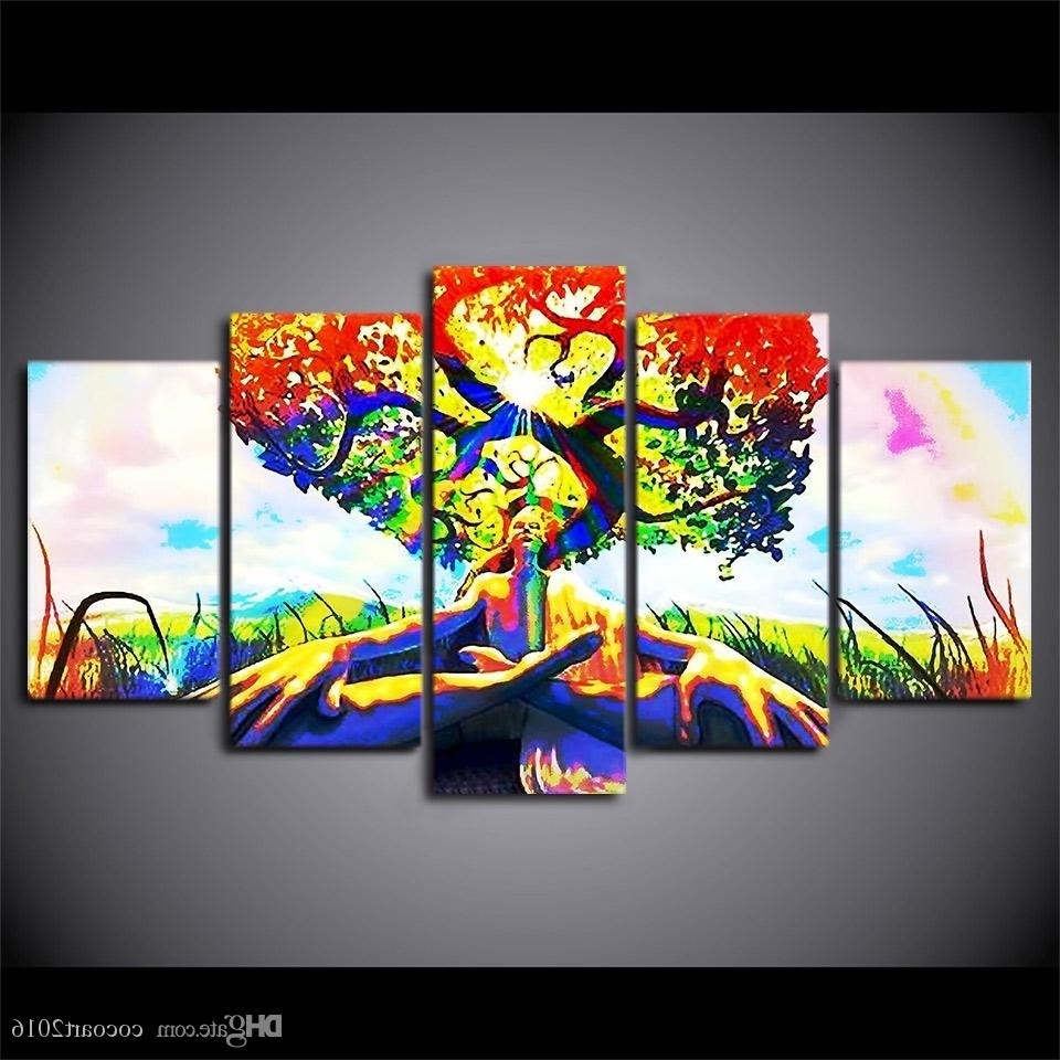 2018 Hd Printed Canvas Art Tree Of Immortality Modern Canvas Prints In Well Liked Modern Canvas Wall Art (View 1 of 15)