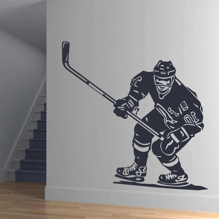 2018 Hockey Wall Art Pertaining To Hockey Wall Art Awesome Front Hockey Player Sports Wall Art Stickers (View 7 of 15)