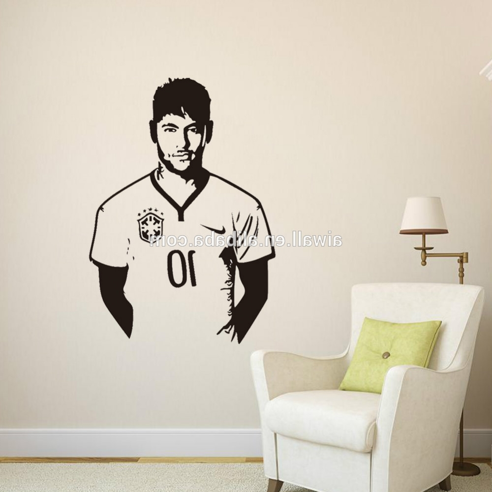 2018 Home Decor Wall Art In 9410 Art Wall Stickers Neymar Diy Home Decorations Wall Decals (View 14 of 15)