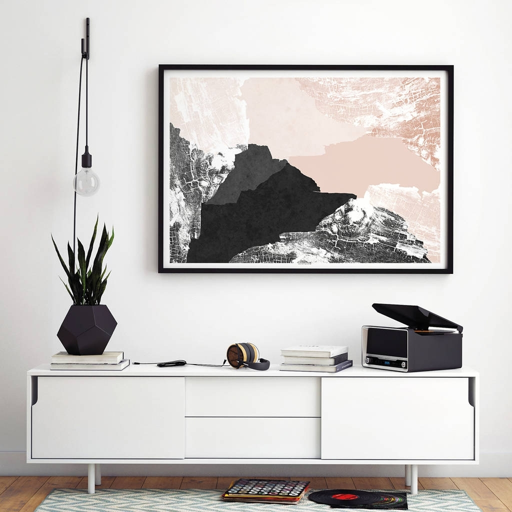 2018 Large Abstract Wall Art Print Living Room Artbronagh Kennedy Inside Wall Art For Living Room (View 6 of 15)