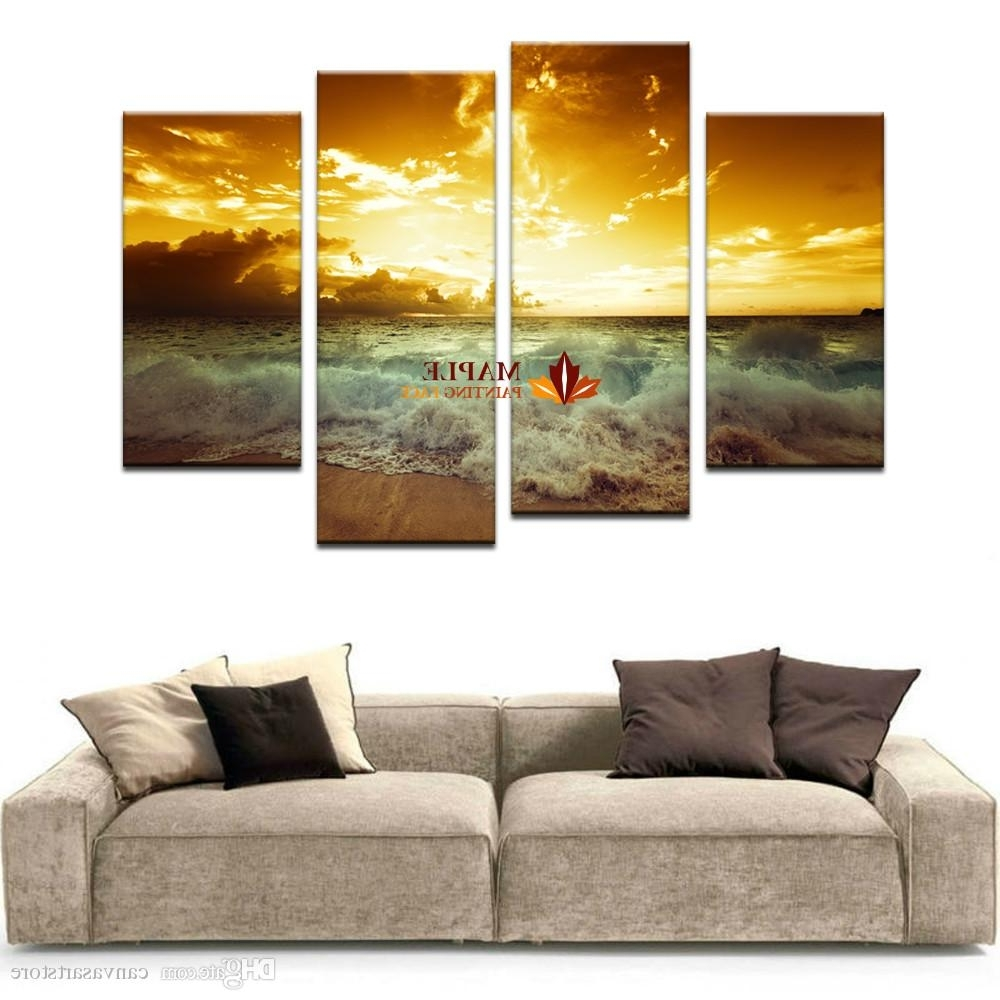 2018 Large Canvas Wall Art Home Decor Painting Landscape Canvas Regarding Most Recently Released Large Canvas Wall Art (View 10 of 15)