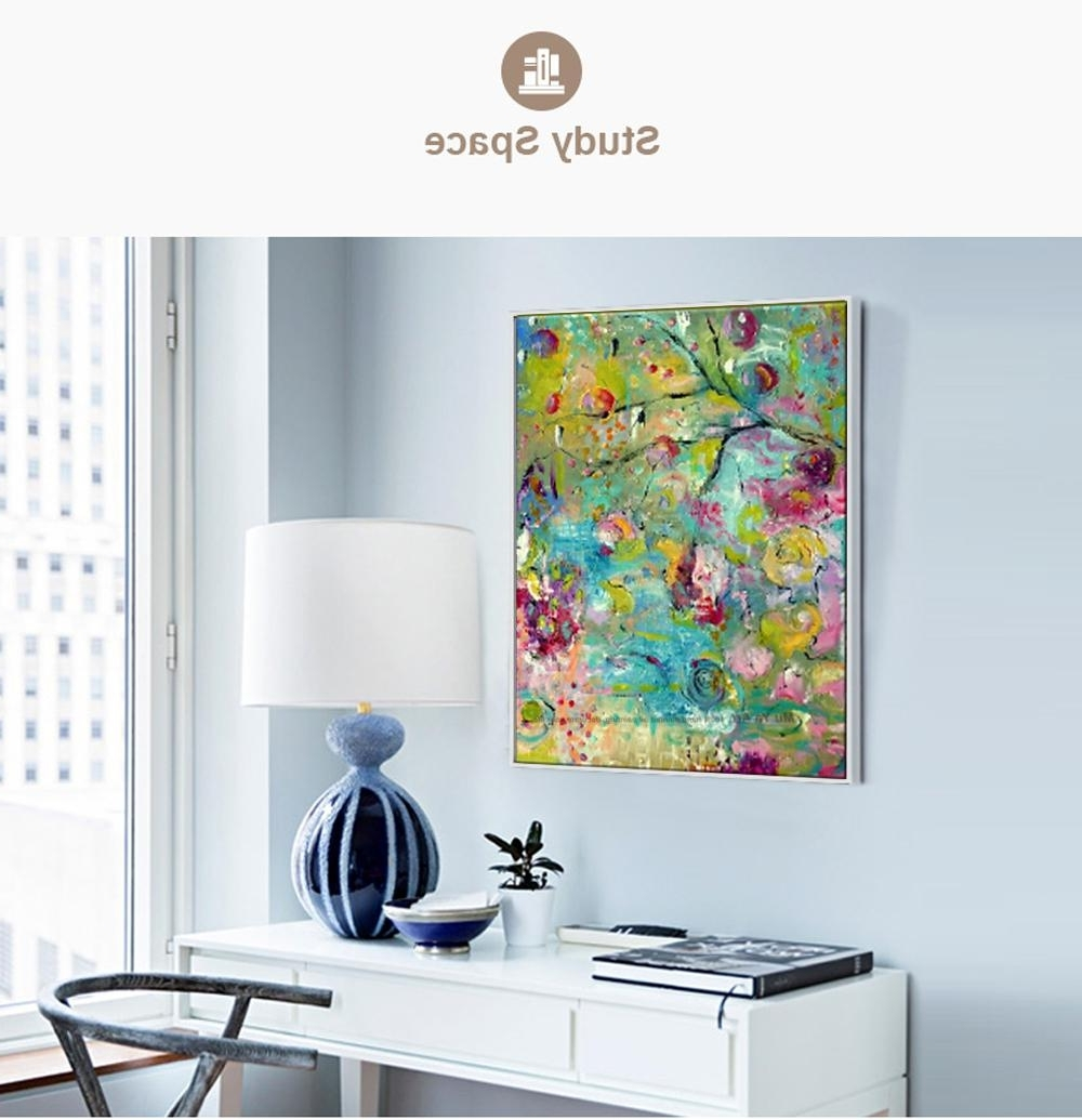 2018 Large Modern Canvas Wall Art Decorative Hand Painted Abstract Within Well Known Tile Canvas Wall Art (View 5 of 15)