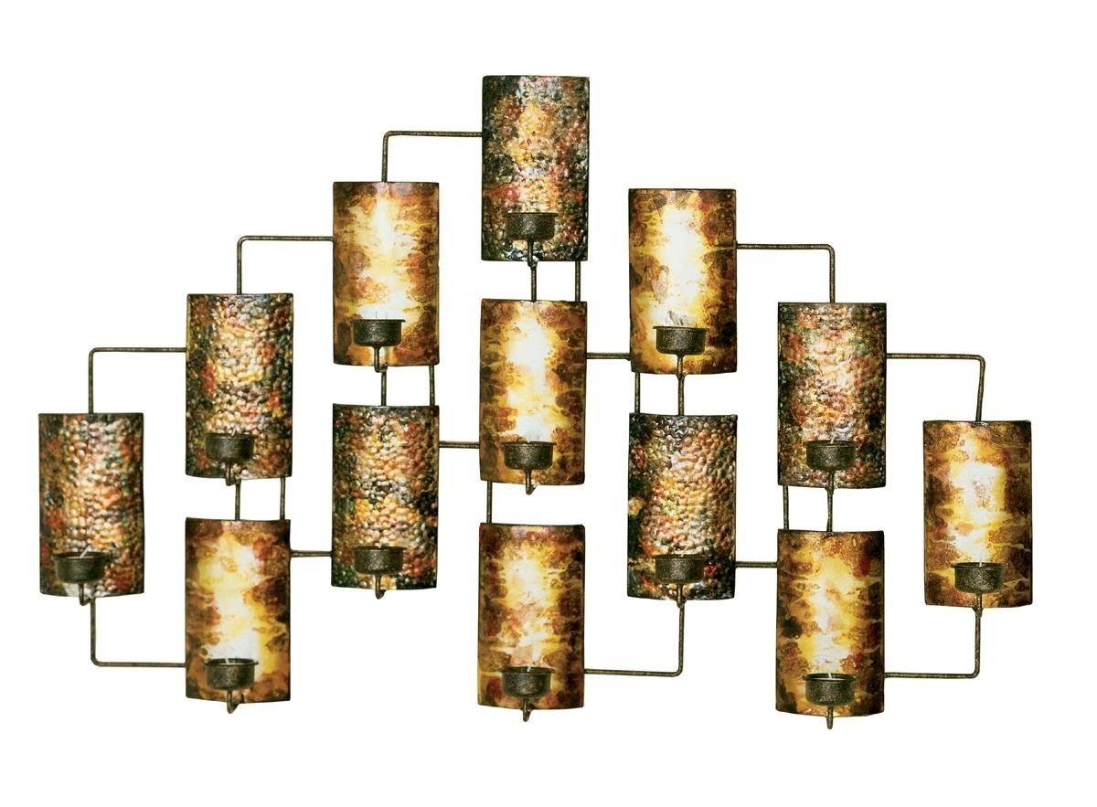 2018 Metal Wall Decor In Aged Gold In Metallic Wall Art Regarding Gold Metal Wall Art (View 1 of 15)