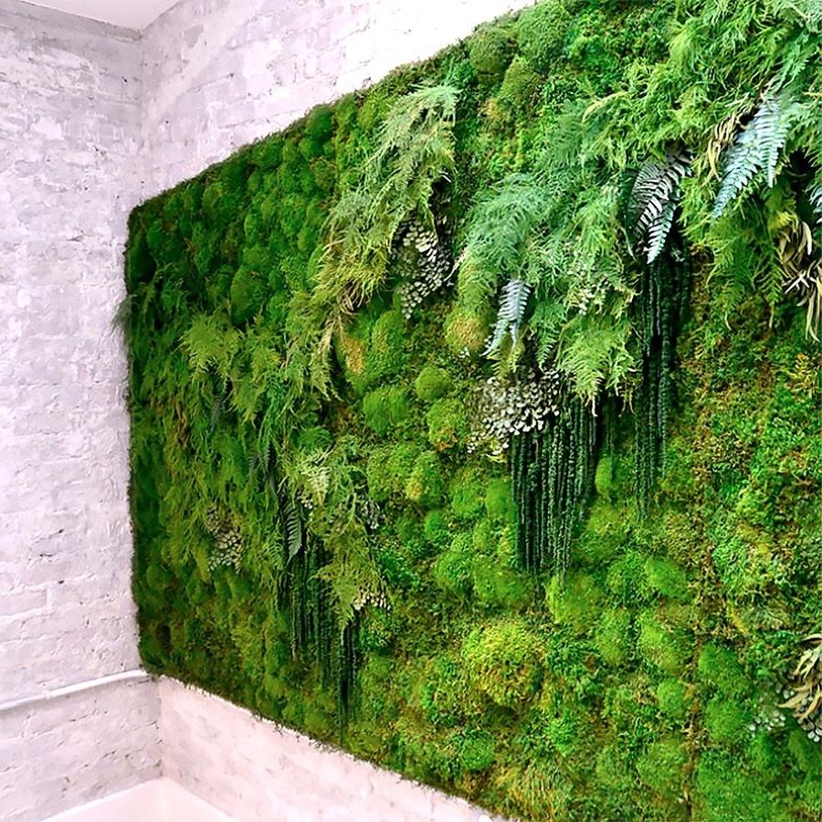 2018 Moss Wall Art Inside Meditation Yoga Studio Green Wallartisan Moss (View 2 of 15)
