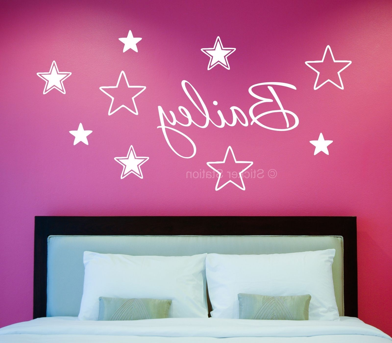 2018 Name Wall Art Throughout Name In Stars Personalised Wall Art Sticker – Sticker Station (View 3 of 15)