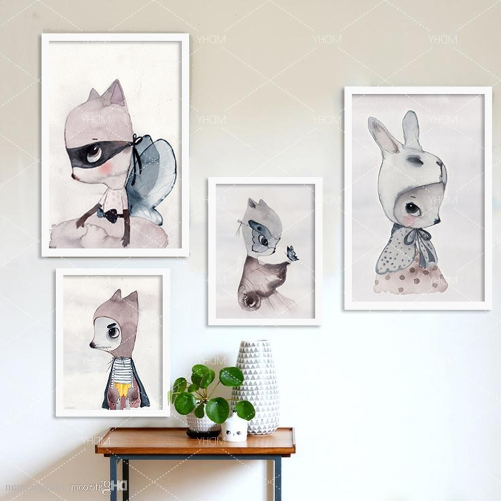 2018 Nordic Decoration Girls Wall Art Prints Canvas Posters And Throughout Preferred Wall Art Prints (View 14 of 15)