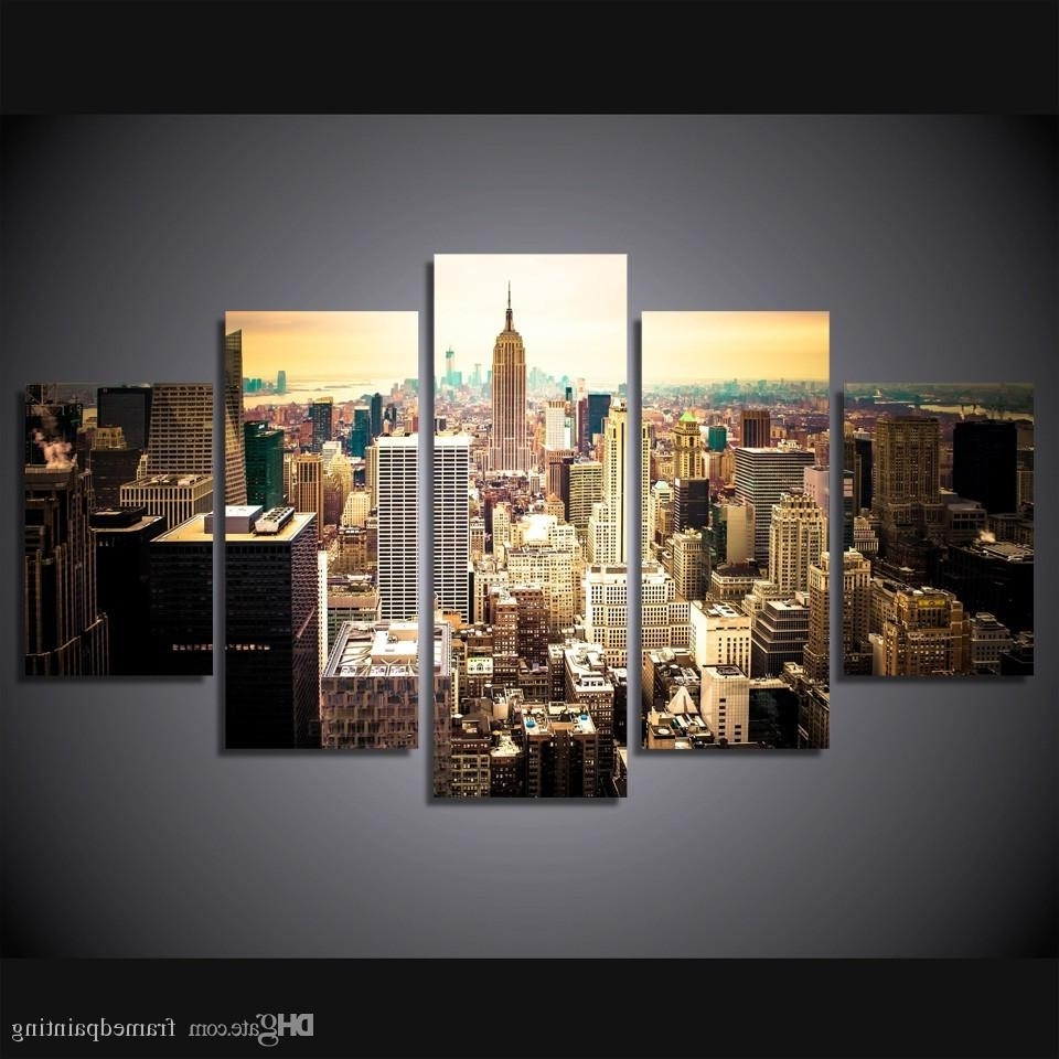 2018 Online Cheap Framed Hd Printed New York City Picture Wall Art Canvas In New York Wall Art (View 2 of 15)