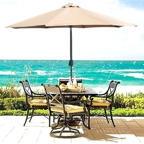 2018 Patio Sets With Umbrellas In Patio Furniture With Umbrella Patio Umbrellas Patio Furniture (View 2 of 15)