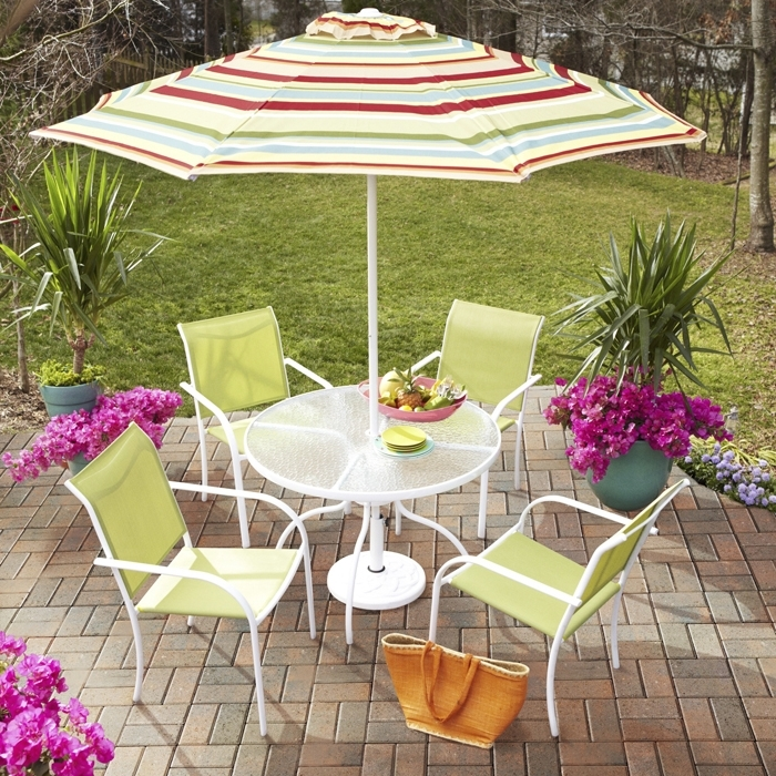 2018 Patio Umbrellas At Lowes Regarding Cleaning Outdoor Patio And Deck Furniture (View 2 of 15)