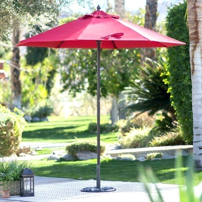 2018 Pool Umbrella Stand Square Umbrella Stand Free Standing Patio Intended For Jewel Patio Umbrellas (View 13 of 15)