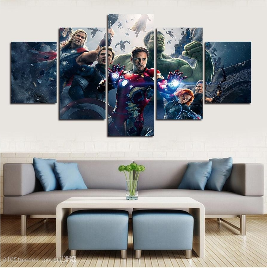 2018 Popular Hot Green Giant Posters Avengers Modern Wall Painting Intended For Favorite Popular Wall Art (View 7 of 15)