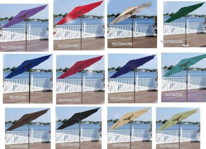 2018 Popular Of 9 Ft Patio Umbrella 9 Ft Patio Market Umbrella Deluxe Pertaining To 9 Ft Patio Umbrellas (View 6 of 15)