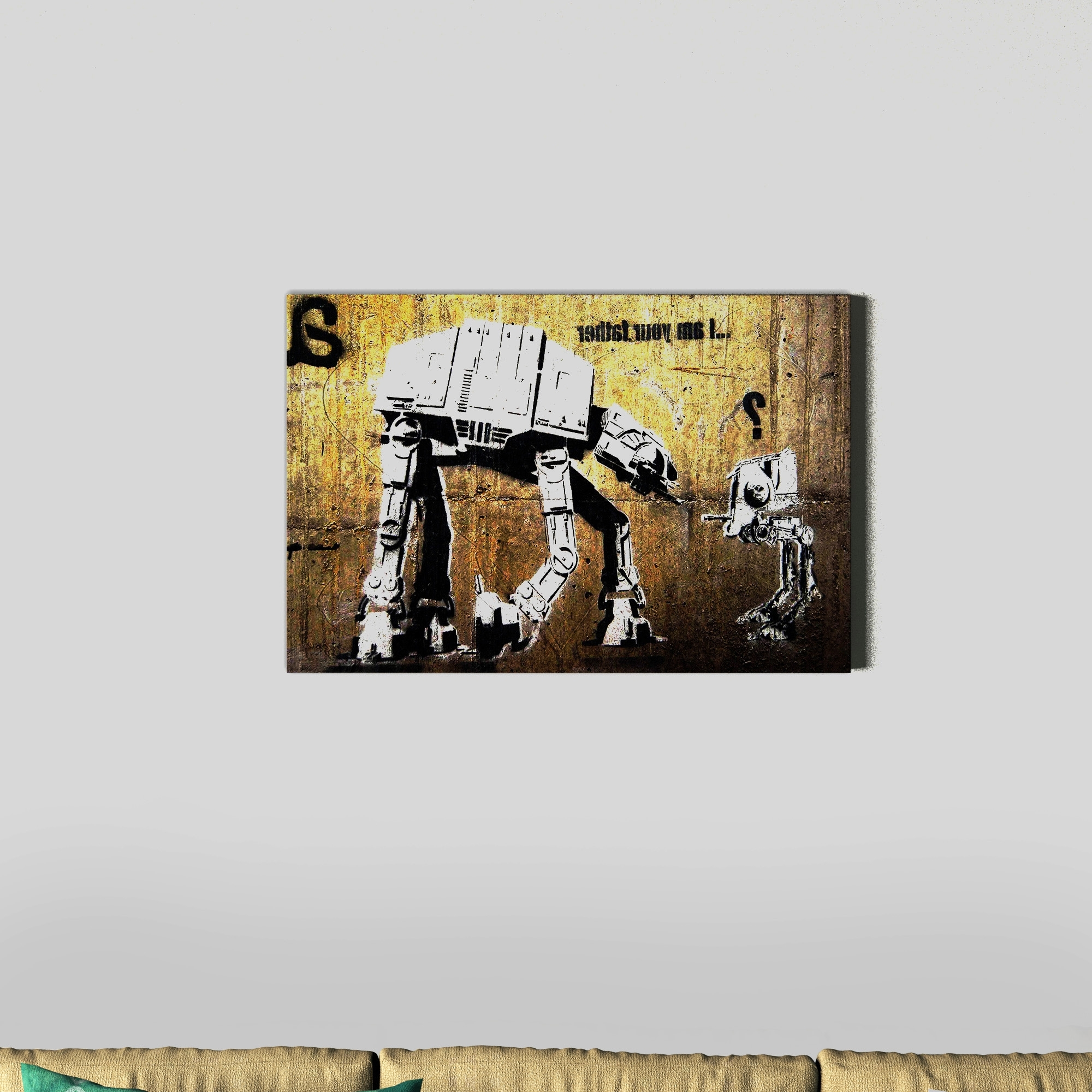 2018 Shop Banksy 'your Father' Canvas Wall Art – Free Shipping On Orders Intended For Overstock Wall Art (View 1 of 15)