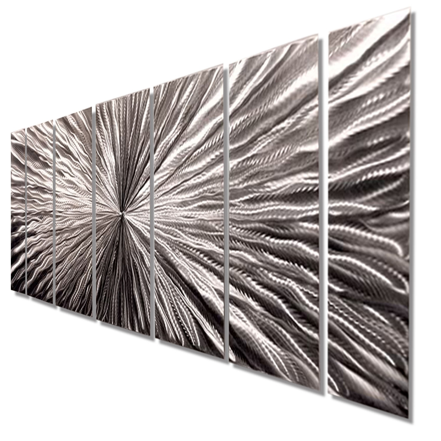 2018 Silver Metal Wall Art Regarding Radiant Velocity – Silver Contemporary Metal Wall Artjon Allen (View 2 of 15)