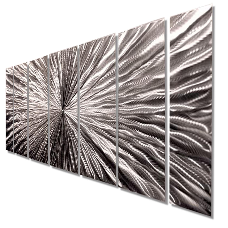 2018 Silver Metal Wall Art Regarding Radiant Velocity – Silver Contemporary Metal Wall Artjon Allen (View 7 of 15)