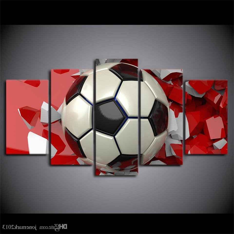 2018 Soccer Wall Art For 2018 Hd Printed Canvas Art Soccer Painting Wall Pictures For Living (View 11 of 15)