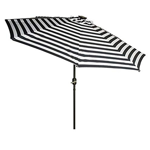 Featured Photo of Striped Sunbrella Patio Umbrellas