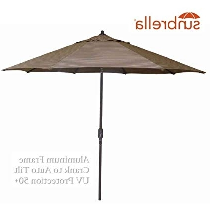 2018 Striped Sunbrella Patio Umbrellas Throughout Amazon : Bayside21 Outdoor Patio Umbrella 9 Feet Aluminum Market (View 9 of 15)