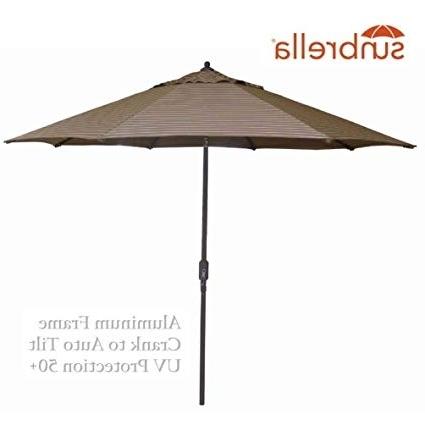 2018 Striped Sunbrella Patio Umbrellas Throughout Amazon : Bayside21 Outdoor Patio Umbrella 9 Feet Aluminum Market (View 9 of 15)
