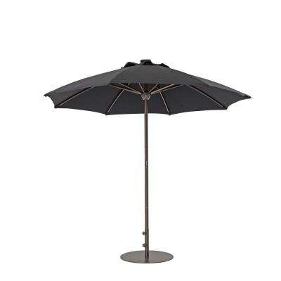 2018 Sunbrella Black Patio Umbrellas Throughout Sunbrella Fabric – Black – Market Umbrellas – Patio Umbrellas – The (View 2 of 15)