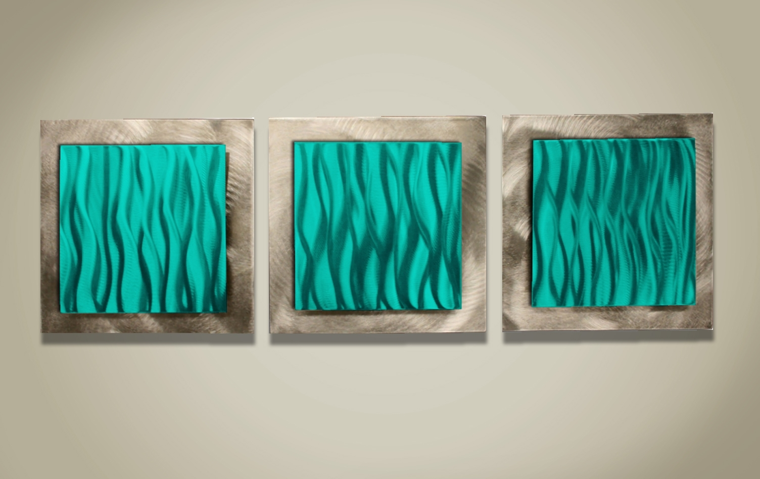 2018 Teal Colored Metal Wall Art Megan Duncanson #039;turquoise, Teal And With Teal And Brown Wall Art (View 15 of 15)