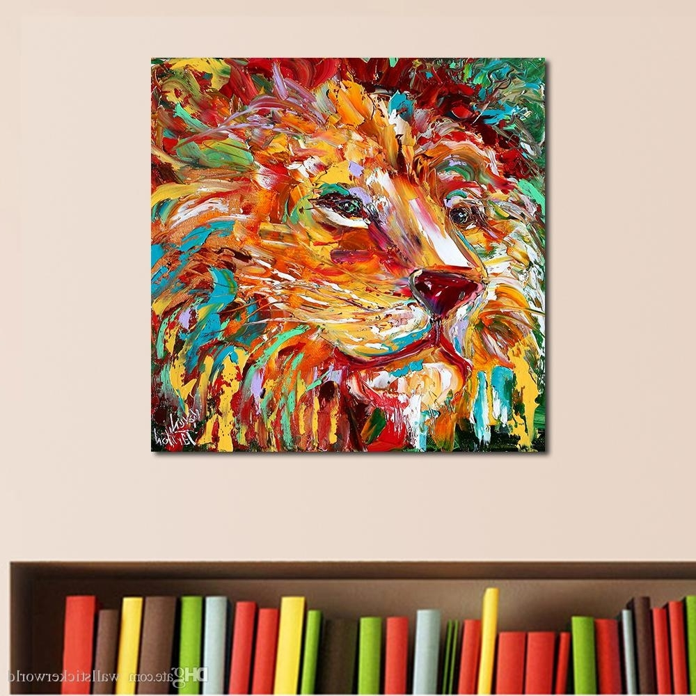 2018 The Colorful Lion King Painting Wall Art Home Decor Modern Throughout Newest Lion King Wall Art (View 1 of 15)