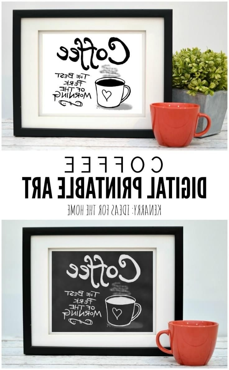 2018 This Digital Printable Coffee Wall Art Would Look So Cute Hung As Pertaining To Coffee Wall Art (View 3 of 15)