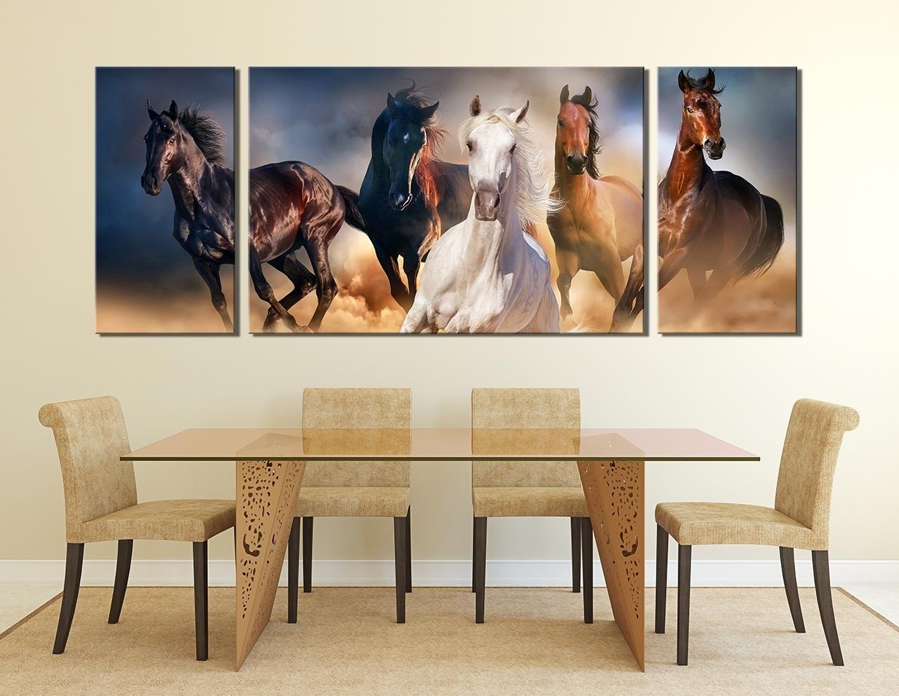 2018 Unique Canvas Wall Art Horses (View 5 of 15)
