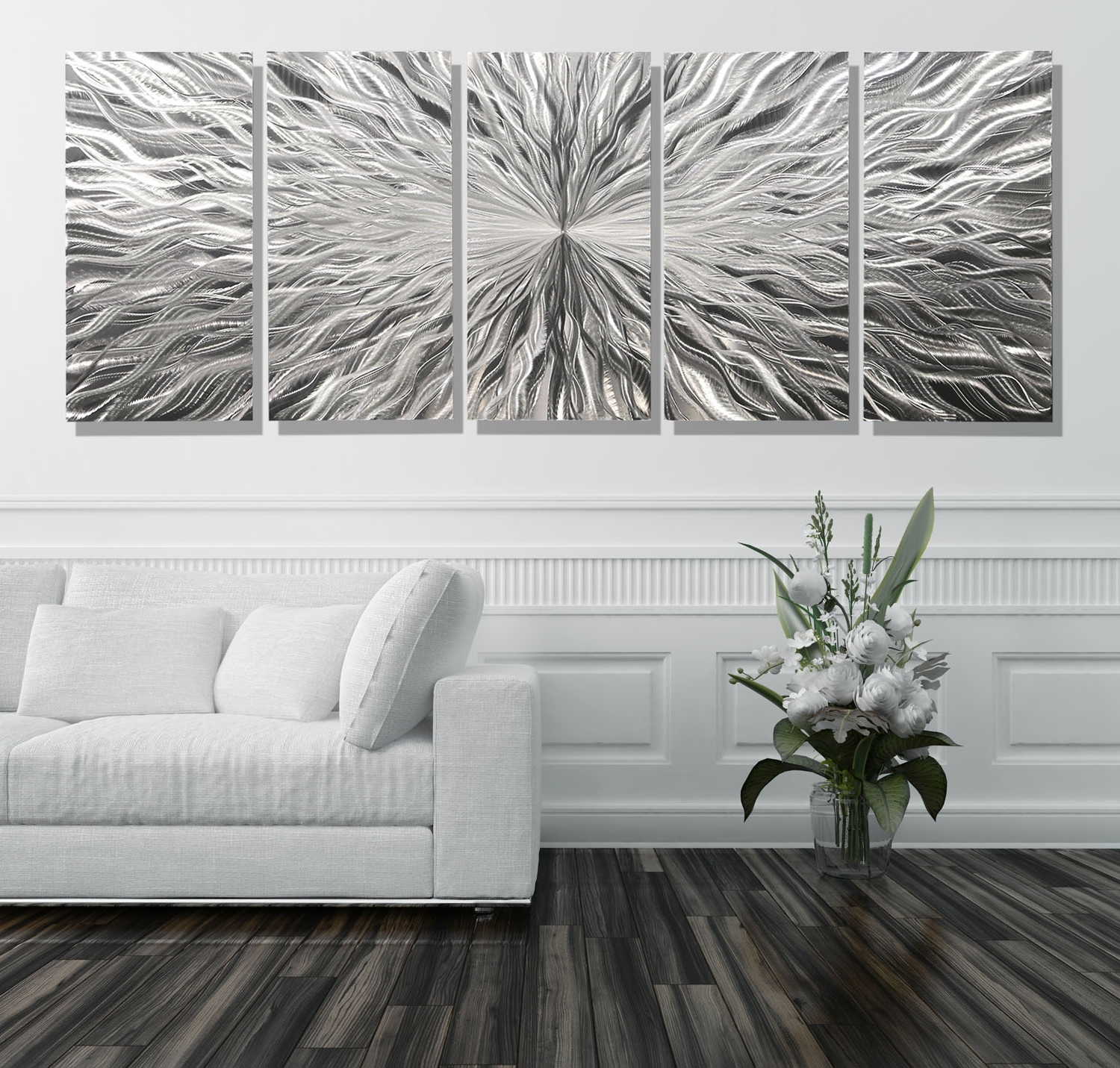 2018 Vortex 5 Xl – Extra Large 5 Panel Modern Abstract Metal Wall Art With Extra Large Wall Art (View 1 of 15)
