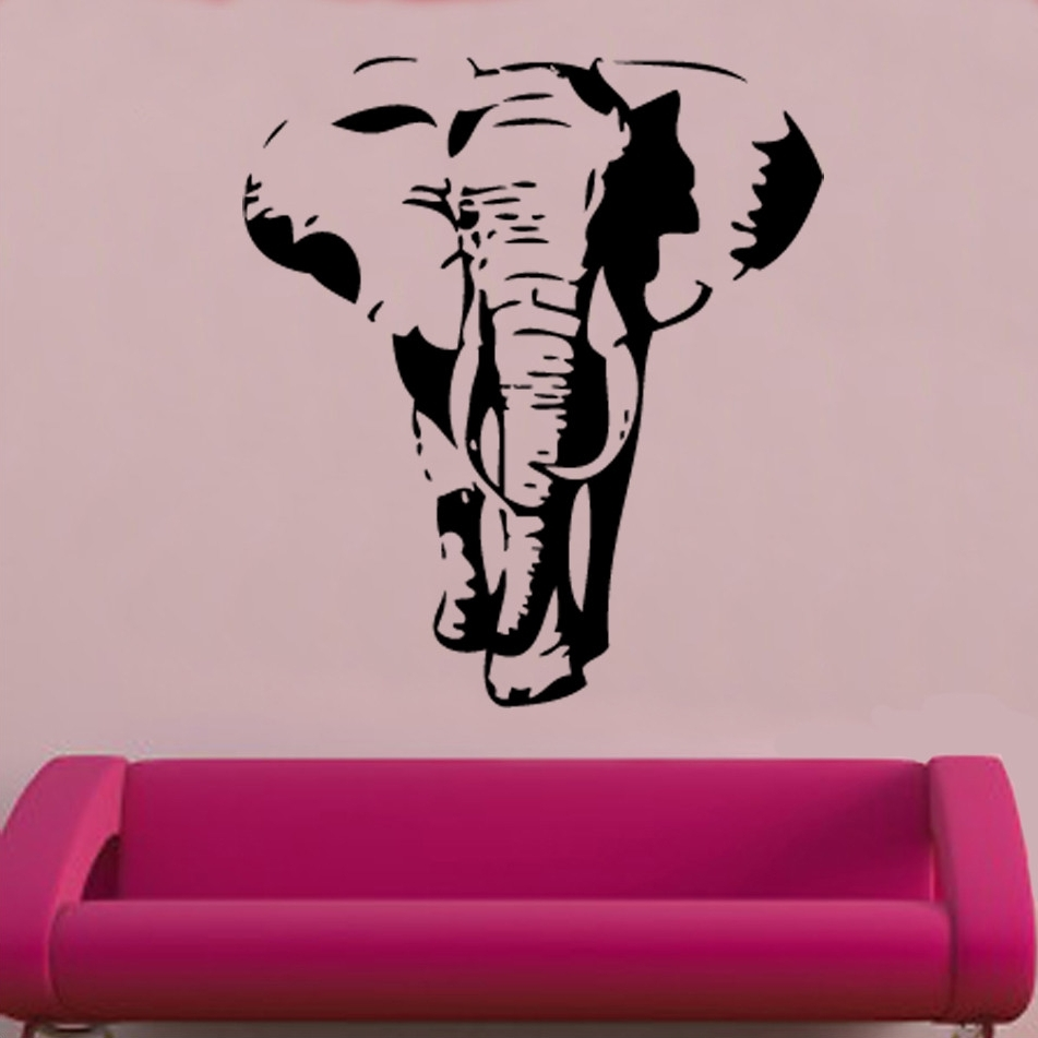 2018 Wall Art Ideas Design : Simply Items Elephant Wall Art Amazing Within Elephant Wall Art (View 1 of 15)