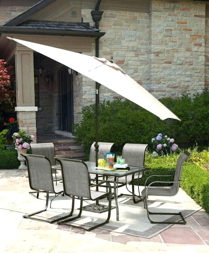 2018 Walmart Patio Table Large Size Of Depot Outdoor Dining Sets Patio Intended For Exotic Patio Umbrellas (View 12 of 15)